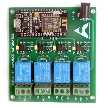 NodeMCU Based 4-Channel Relay Board Micro Controller Board Electronic