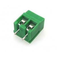 2 Pin PCB Mount Screw Terminal Connectors - Green