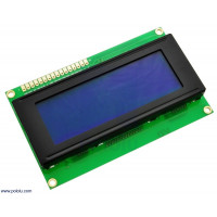 20x4 LCD Display With Blue Back-light