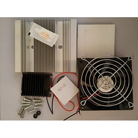 TEC1-12706 Thermoelectric Peltier Module Cooler Cooling System with Heatsink Set + 2-Fan + Accessories